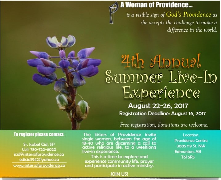 4th Annual summer live-in experience