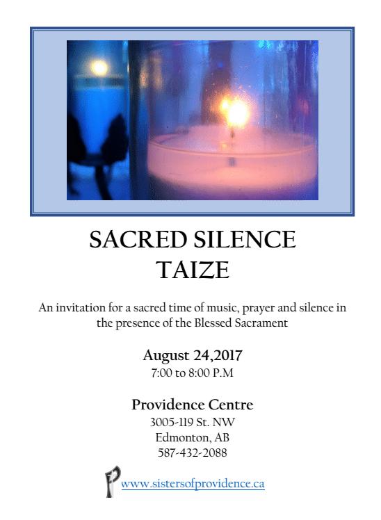 taize poster, Aug. 24, 2017