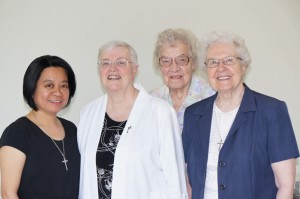 From left: Sisters Mae Valdez, Germaine Chalifoux, Evelyn Dechant and Elizabeth Kaczmarczyk