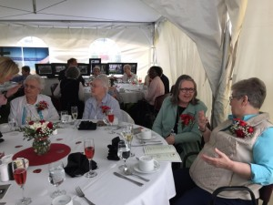 An Elegant Luncheon in the Tent